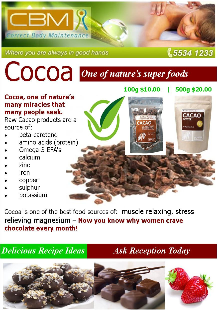 Cacao Nibs and Power