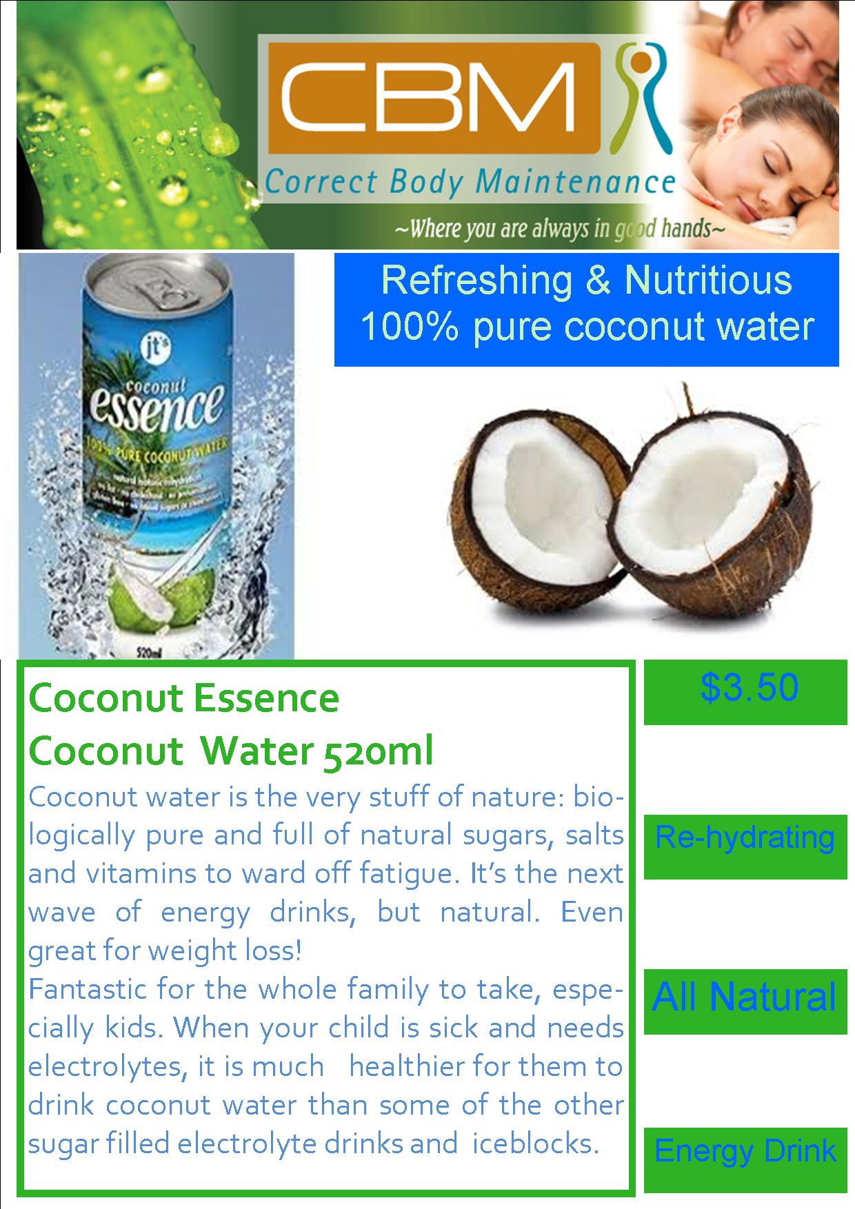Coconut water sign