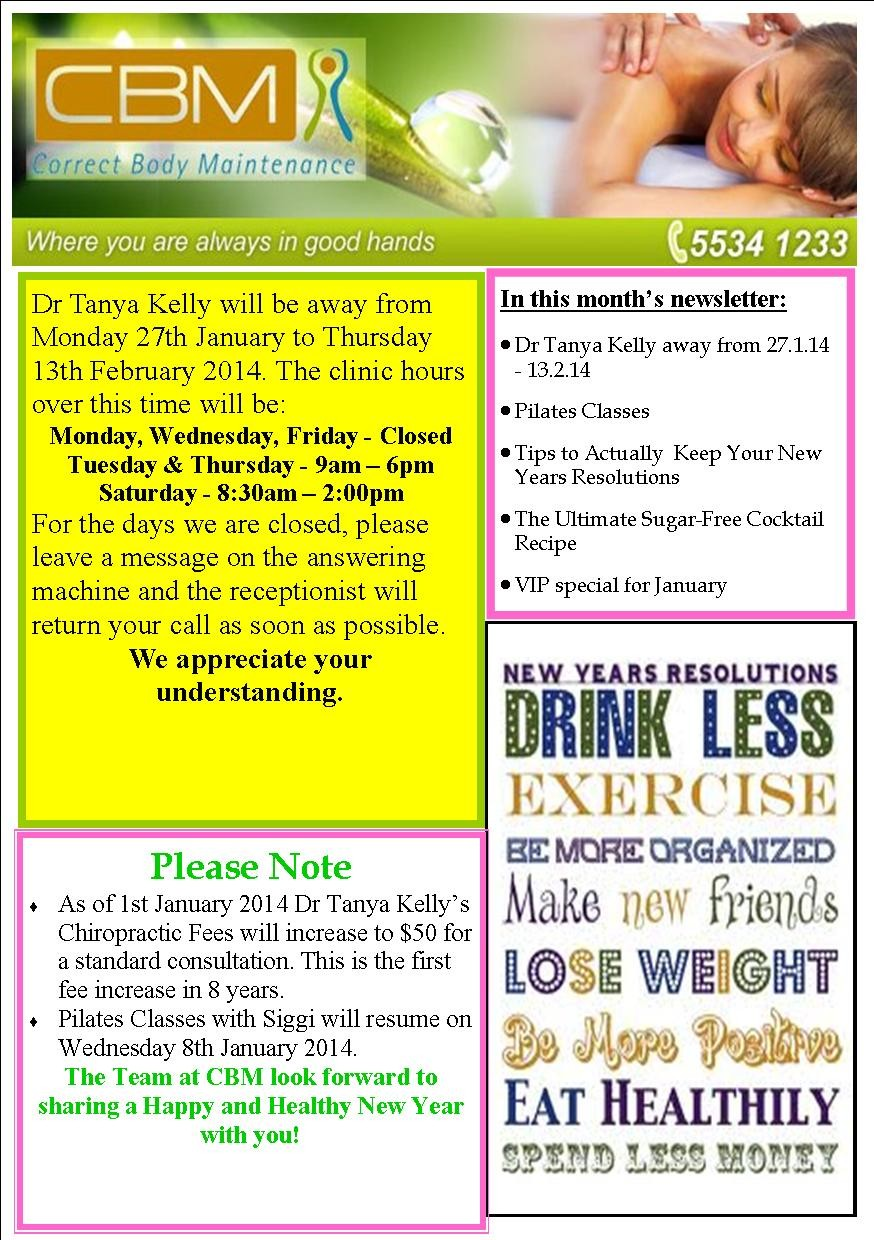 January 2014 Newsletter Page 1