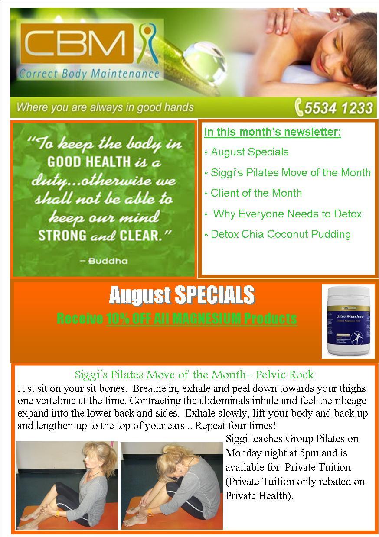 August 2014 Newsletter pg 1