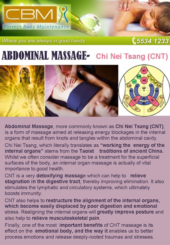 Adominal Massage- Article from Ben