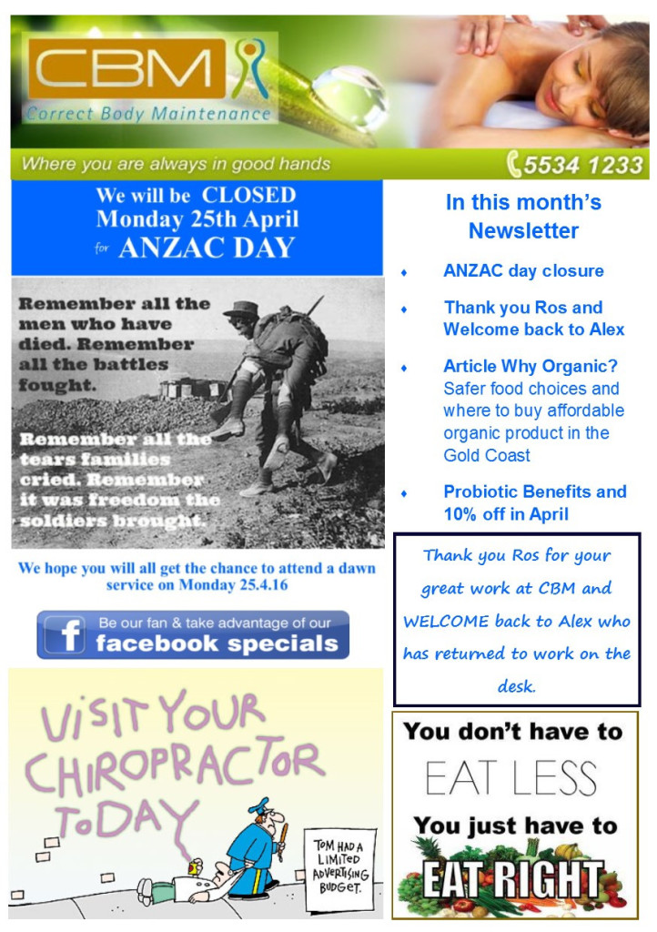 Page 1 April newsletter