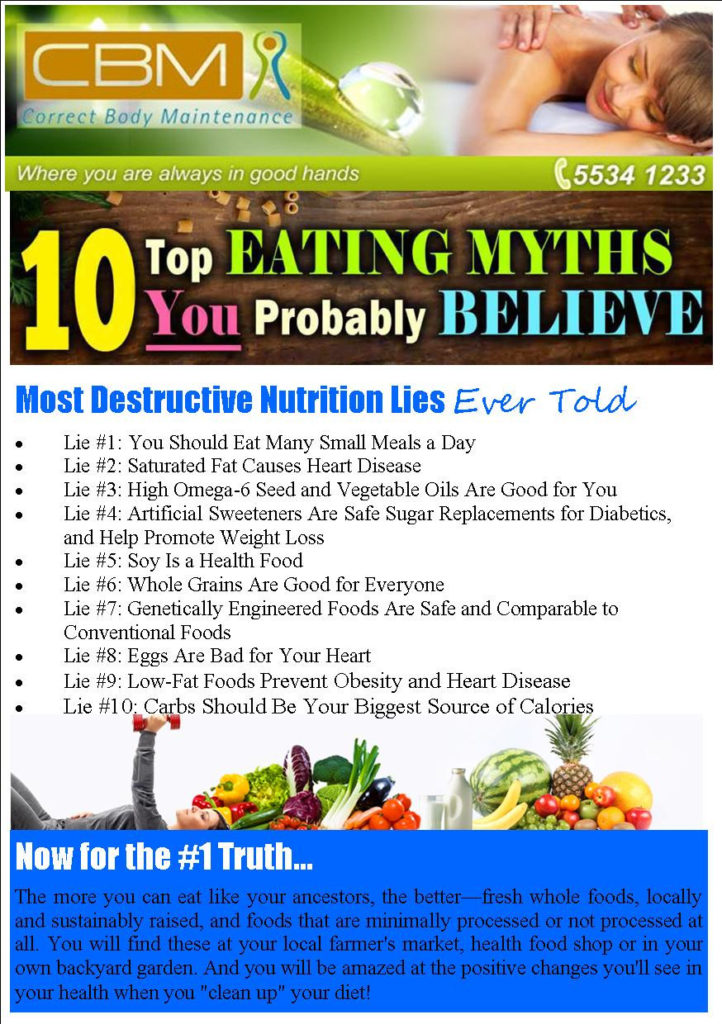 10 Nutrition Lies