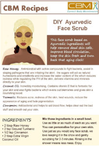 DIY Ayurvedic face scrub