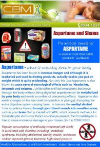 Aspartame and Shame