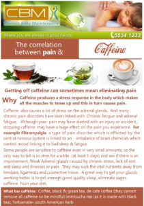 Caffiene and pain