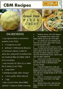 Grain free Pizza crust