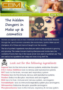 The hidden dangers in make up and cosmetics