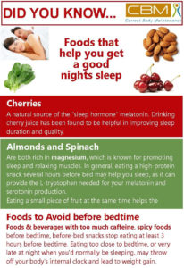 foods that help you get a good nights sleep